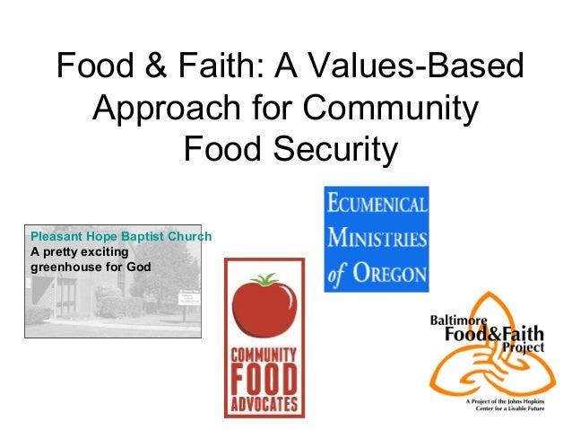 Food & Faith: A Values-Based Approach for Community Food Security