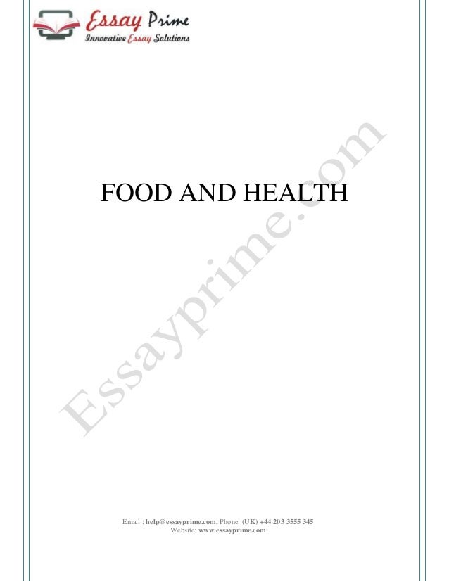 Essay about food.. HELP?