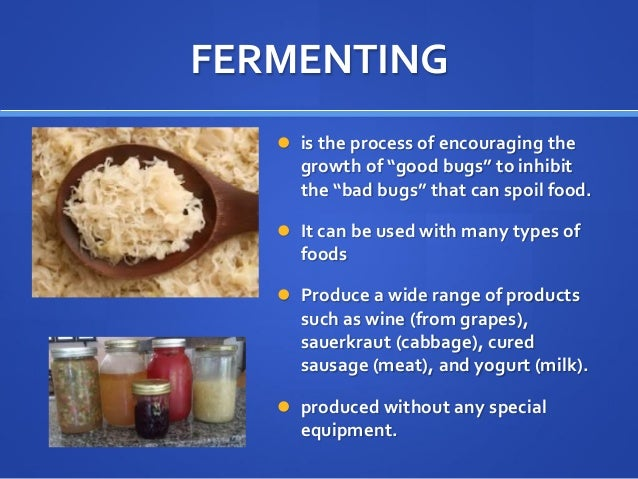 Food Preservation Methods And Food Processing