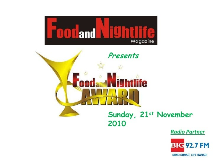 Food and nightlife awards   philips india