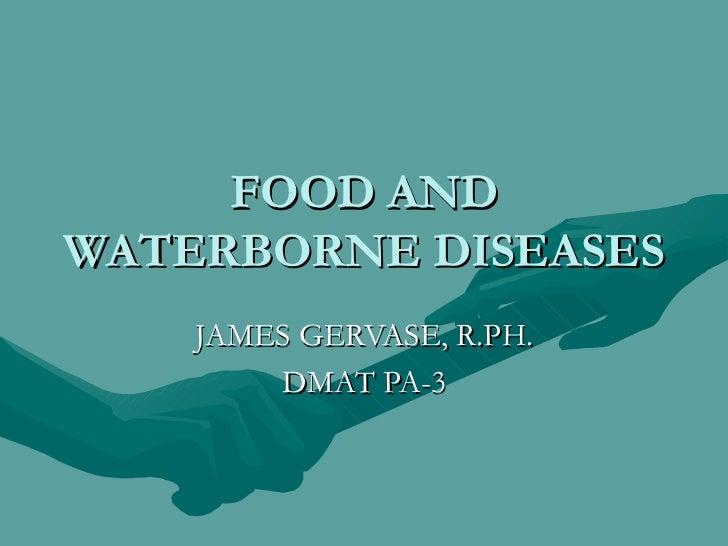 Food And Waterborne Diseases Powerpoint