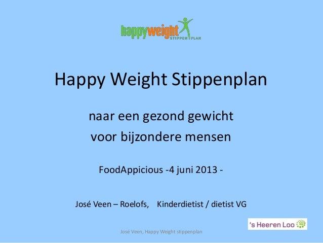 Happy Weight Stippenplannaar een gezond gewichtvoor bijzondere mensenFoodAppicious -4 juni 2013 -José Veen – Roelofs, Kind...