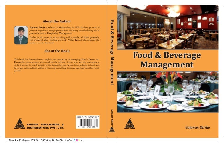 Food & Beverage Management Cover