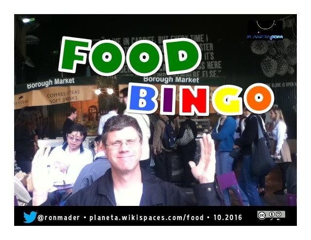 Food Bingo