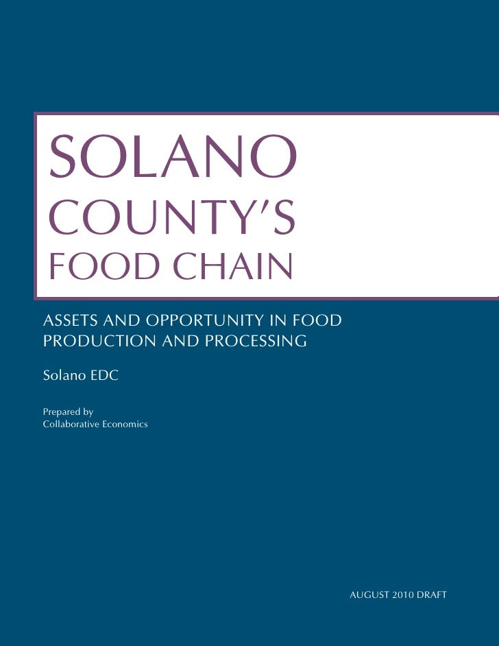SOLANO COUNTY'S FOOD CHAINASSETS AND OPPORTUNITY IN FOODPRODUCTION AND PROCESSINGSolano EDCPrepared byCollaborative Econom...
