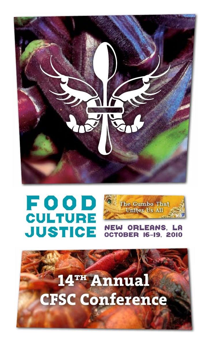 CFSC 2010 Program: Food, Culture & Justice