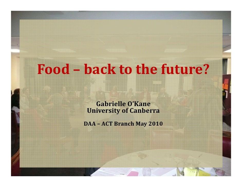 Food dialogue