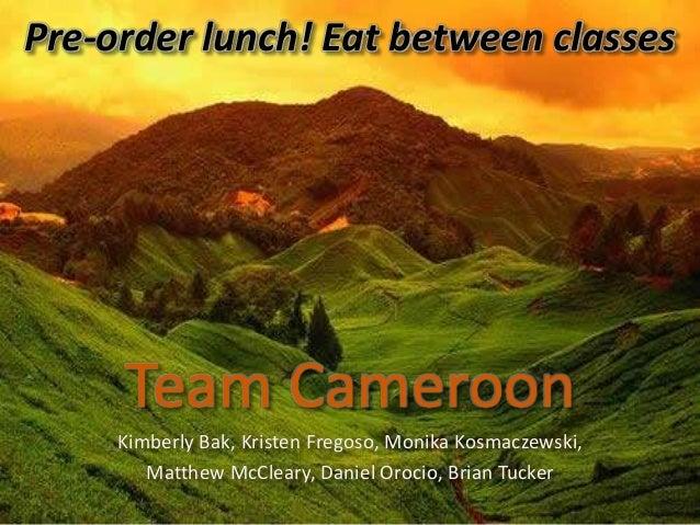 Team Cameroon Kimberly Bak, Kristen Fregoso, Monika Kosmaczewski, Matthew McCleary, Daniel Orocio, Brian Tucker Pre-order ...