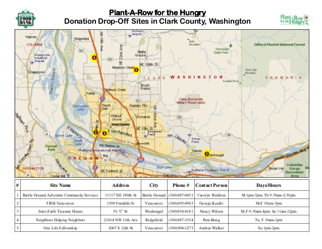 Plant a Row for the Hungry - Clark County, Washington