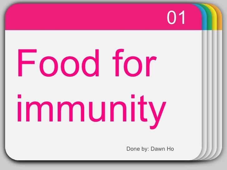 Food for immunity