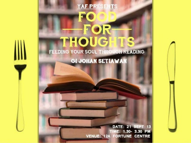 Food for Thoughts - Feeding Your Soul through Reading