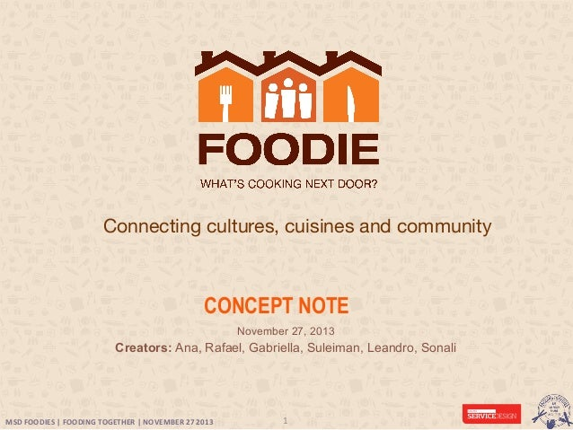 Foodie - Designing a meal sharing service