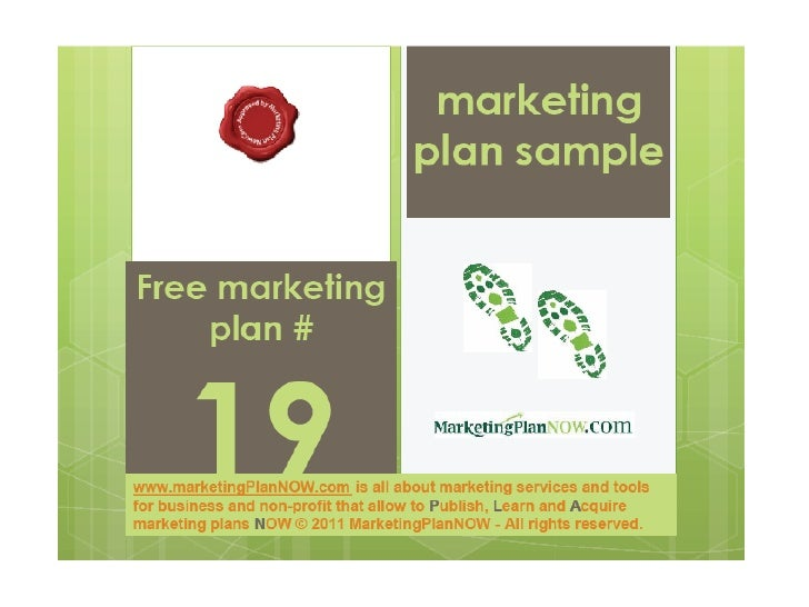 Free marketing plan sample of a food manufacturer and distributor (branding issues), by www.marketingPlanNOW.com