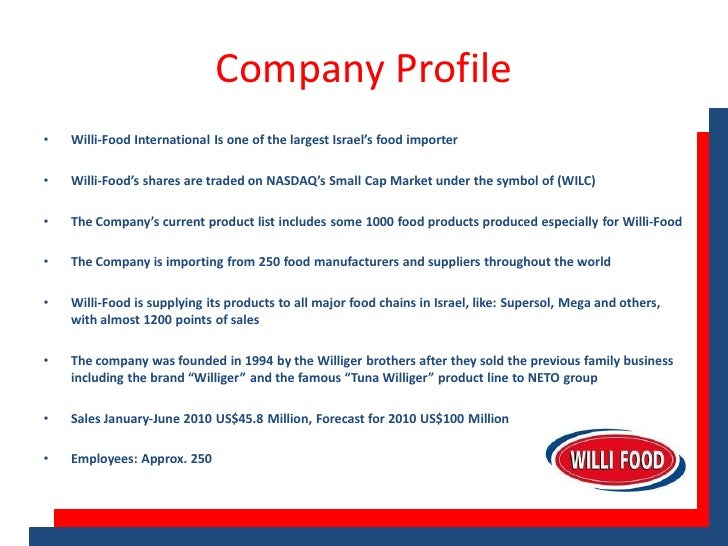 Free marketing plan sample of a food manufacturer and ...