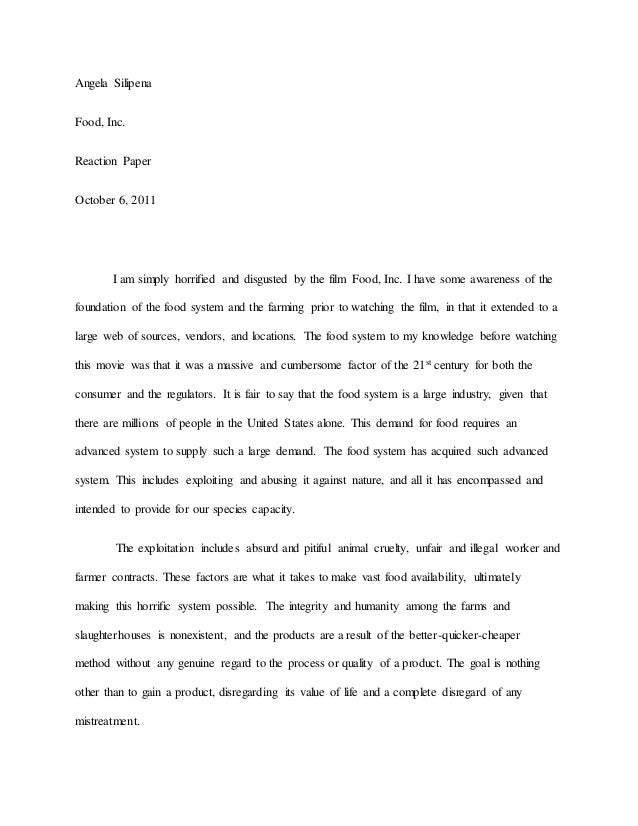 tips for writing a good reaction paper essay
