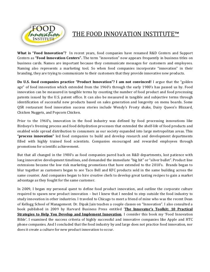Food Innovation Institute