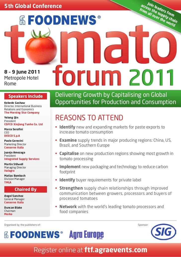 Foodnews Tomato Forum 2011