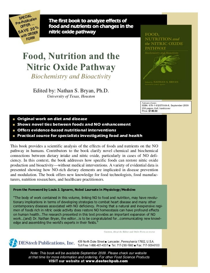 """""""Food, Nutrition and the Nitric Oxide Pathway""""_Nutritional Epidemiology_Milkowski & Coughlin 2009"""