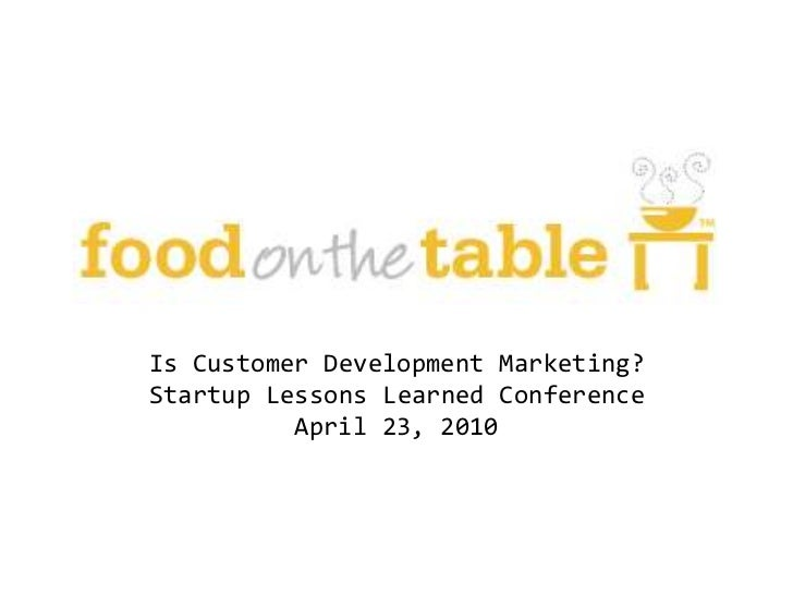 Food on the Table case study at #sllconf by Manuel Rosso