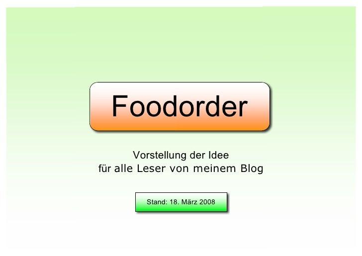 Foodorder