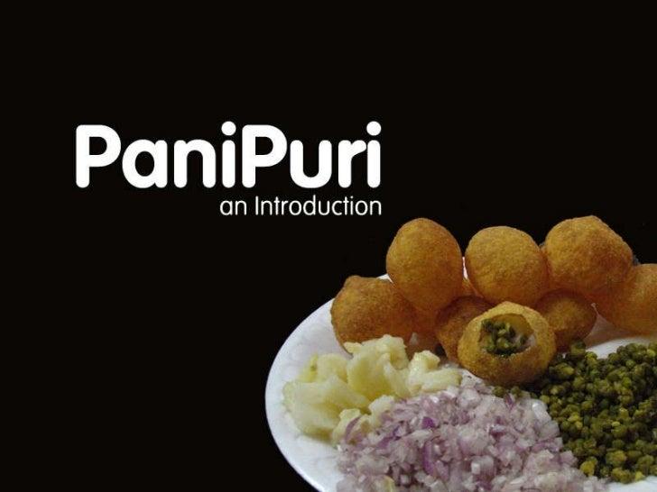 PaniPuri – an Introduction