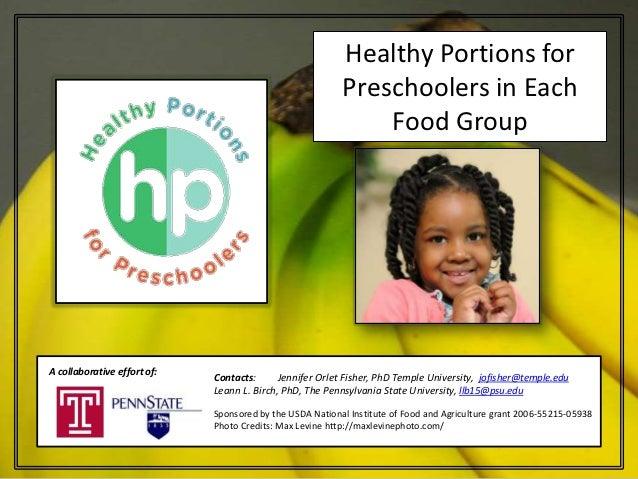 Healthy Portions for                                                          Preschoolers in Each                        ...