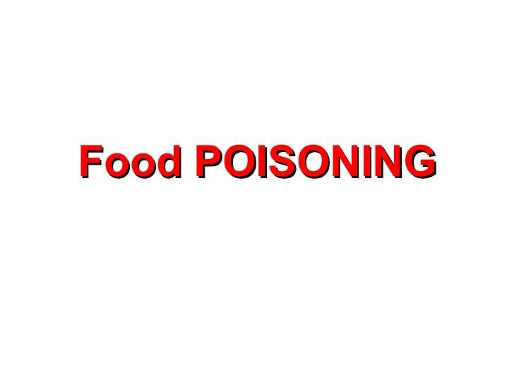 Food poisoning