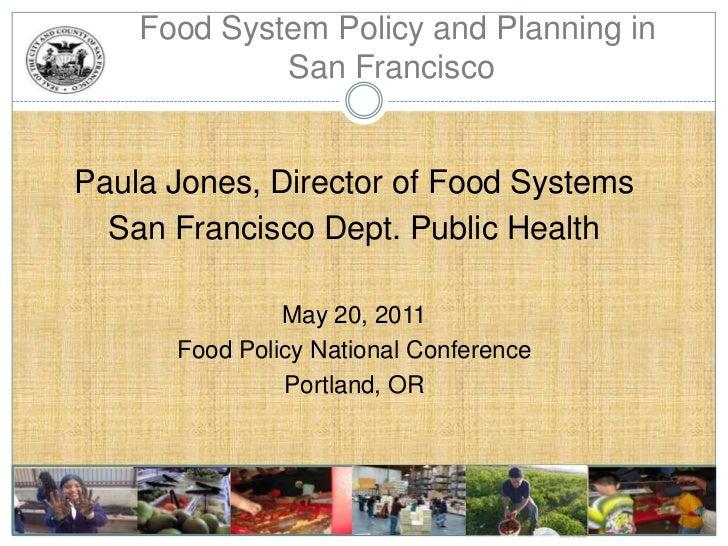 Urban Food Policy Strategies: San Francisco