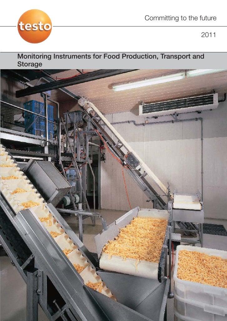 Testo - Food Production, Transport and Storage