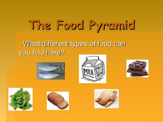 The Food Pyramid - What different types of food can you find here?