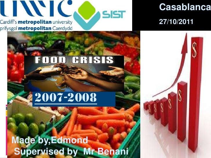 Food raise of price e
