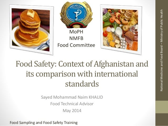 Food safety Afghanistans context : Some basic things