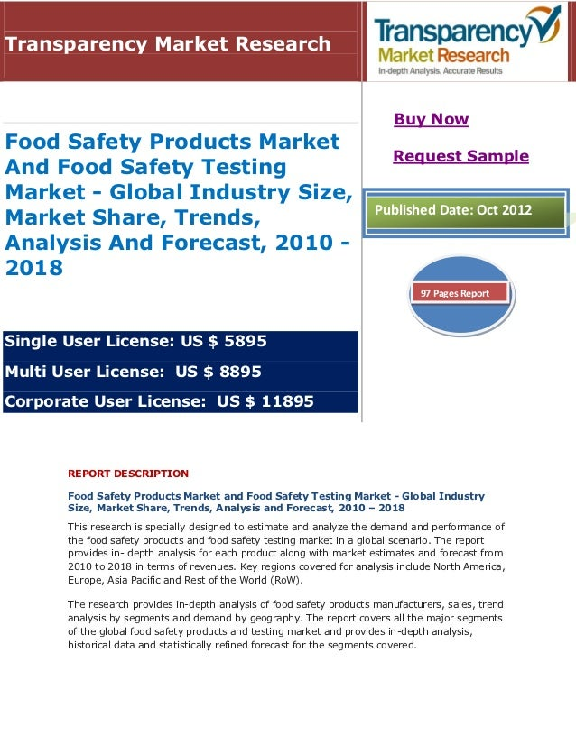 Transparency Market Research                                                                           Buy NowFood Safety ...