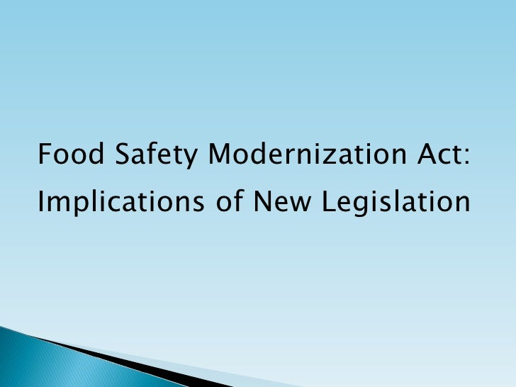 Acheson / Bode Food Safety Law 01-06-11