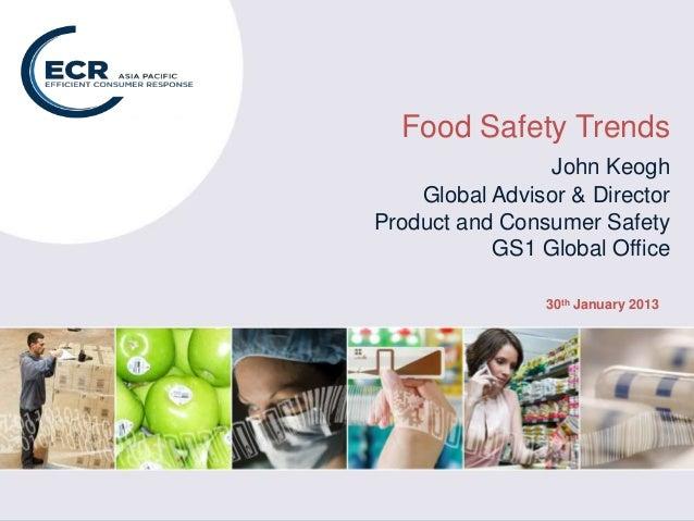 Food Safety: Global Trends webinar for ECR Asia