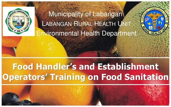 Food sanitation training