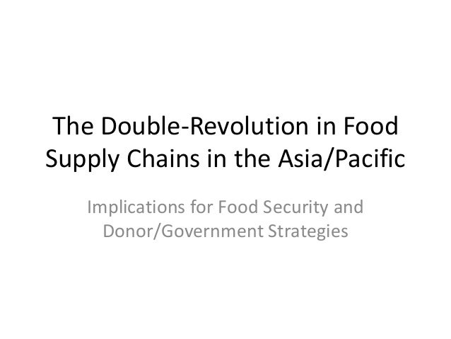 The Double-Revolution in FoodSupply Chains in the Asia/Pacific   Implications for Food Security and     Donor/Government S...