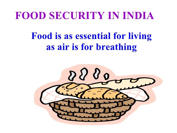 essays on food security in india