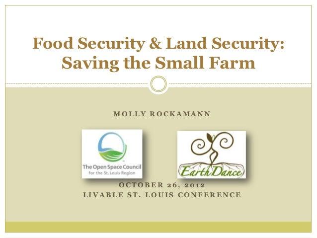 Food Security & Land Security: Saving the Small Farm