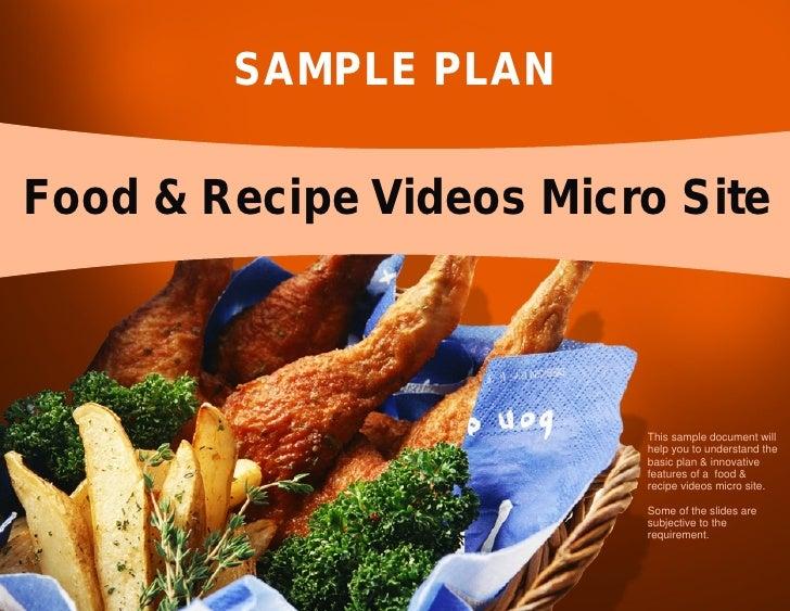Sample Plan - Food & Recipe Video Portal Micro Site
