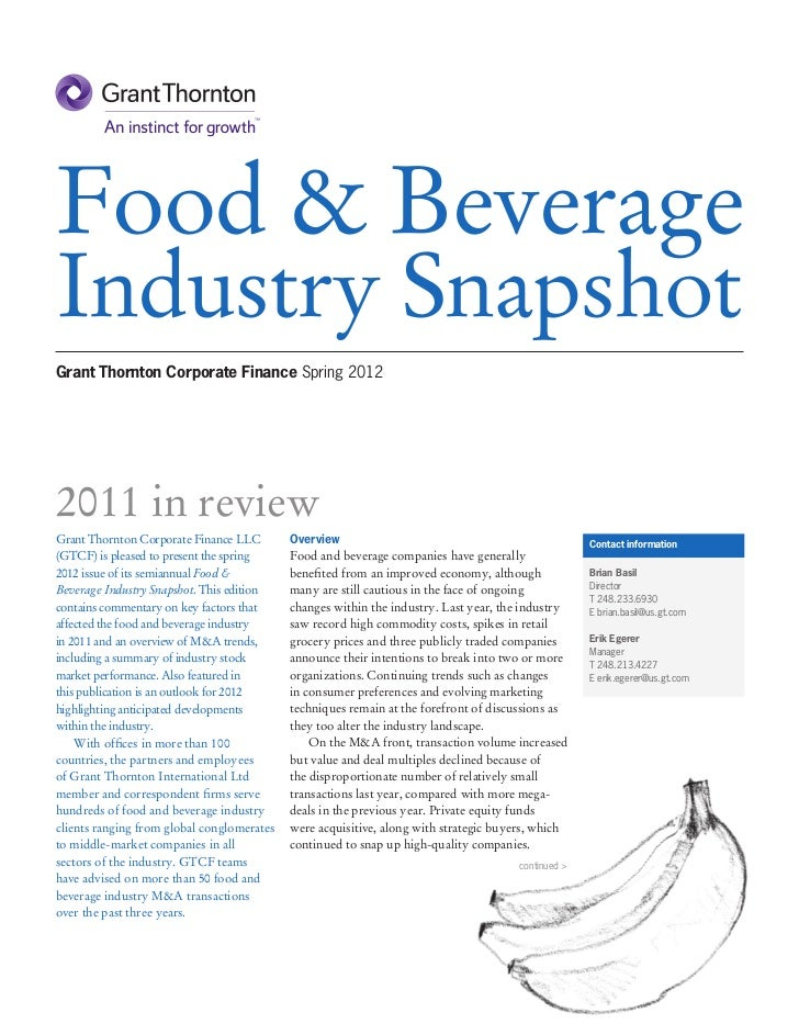 Food & Beverage Industry Snapshot
