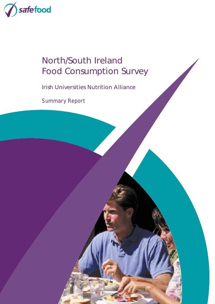 North/South Ireland Food Consumption Survey Irish Universities Nutrition Alliance  Summary Report