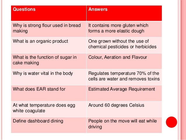 food technology   revision questions      questions answers