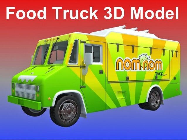 Food truck 3d model for Food truck design app