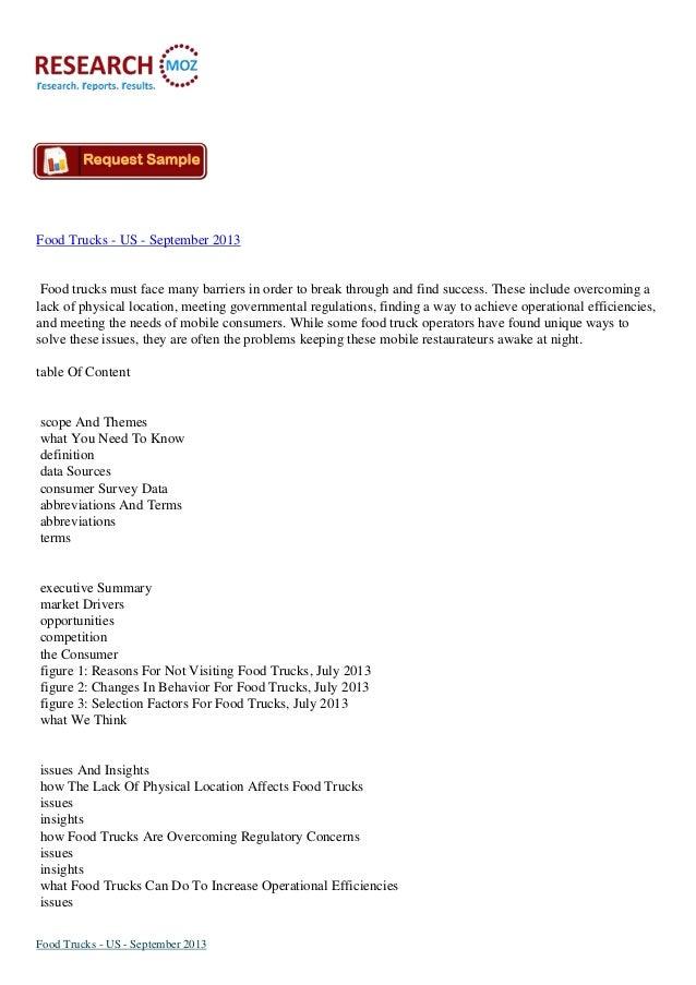 Food Trucks - US - September 2013