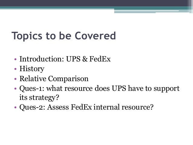 fed ex vs ups case analysis