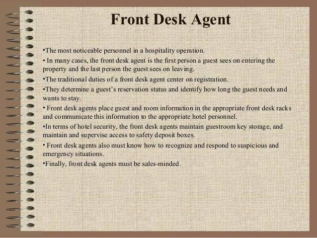 Organigrama De Funciones En Front Desk