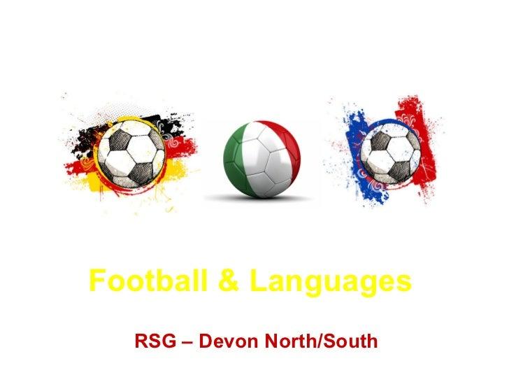 Football & Languages RSG – Devon  North /South