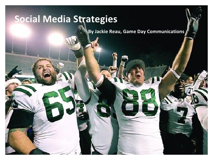 Social Media Strategies for College Bowl Games