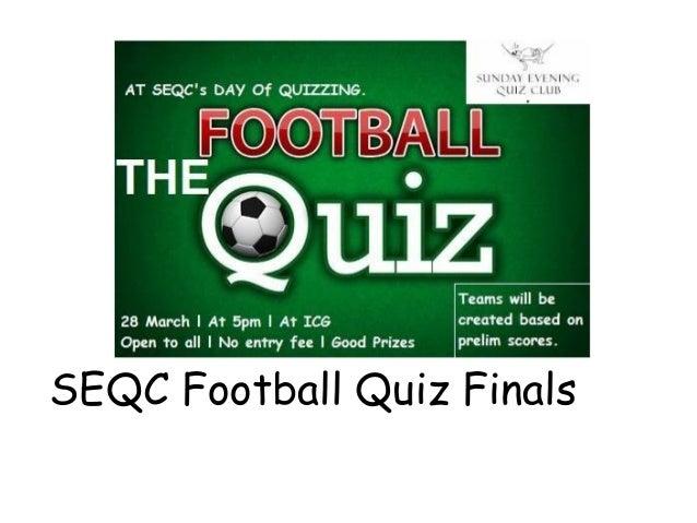SEQC Football Quiz Finals